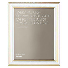 "Buy John Lewis Trevi Table Photo Frame, Ivory, 8 x 10"" (20 x 25cm) Online at johnlewis.com"