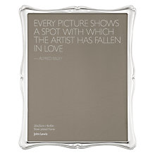 "Buy John Lewis Flora Photo Frame, Silver Plated, 8 x 10"" (20 x 25cm) Online at johnlewis.com"