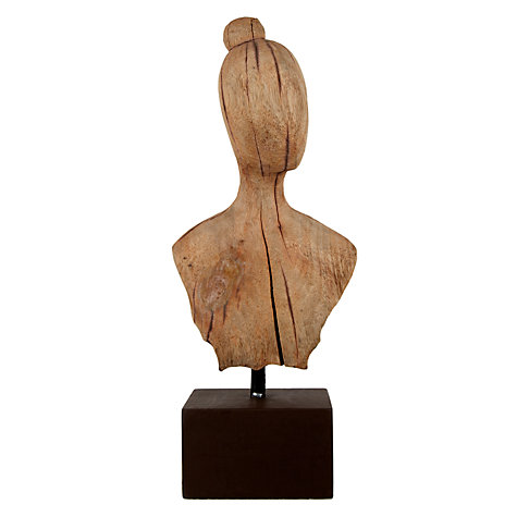 Buy John Lewis Mango Wood Lady Bust Sculpture Online at johnlewis.com