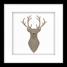 Buy Daisy Maison - Stag Framed 3D Laser-cut, 41.5 x 41.5cm Online at johnlewis.com