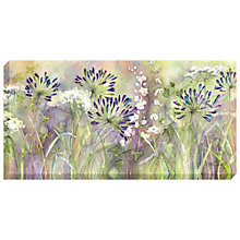 Buy Catherine Stephenson - Agapanthus Blooms Print on Canvas, 60 x 120cm Online at johnlewis.com