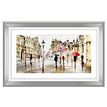 Buy Macneil - Stroll In The Rain Framed Print, 73 x 113cm Online at johnlewis.com