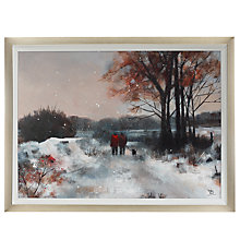 Buy Debbie Neill - Snowy Walk Framed Print, 86 x 112cm Online at johnlewis.com
