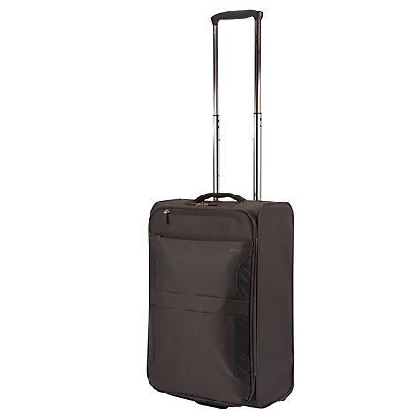 Buy John Lewis Cabin Air 2-Wheel Cabin Suitcase, Graphite/Red Online at johnlewis.com