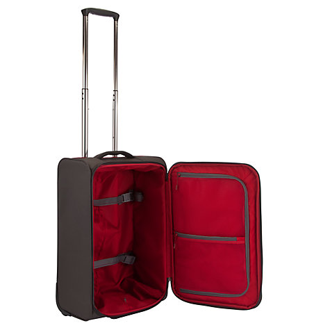 Buy John Lewis Cabin Air 2-Wheel 55cm Cabin Suitcase, Graphite/Red Online at johnlewis.com
