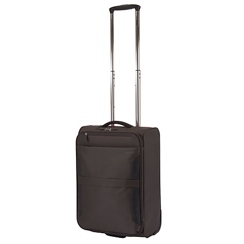 Buy John Lewis Cabin Air 2-Wheel 55cm Cabin Suitcase, Graphite/Blue Online at johnlewis.com