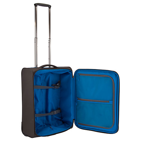 Buy John Lewis Cabin Air 2-Wheel Cabin Suitcase, Graphite/Blue Online at johnlewis.com