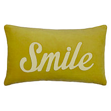Buy John Lewis Smile Cushion, Yellow Online at johnlewis.com