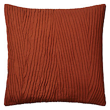 Buy John Lewis Folds Cushion, Terracotta Online at johnlewis.com