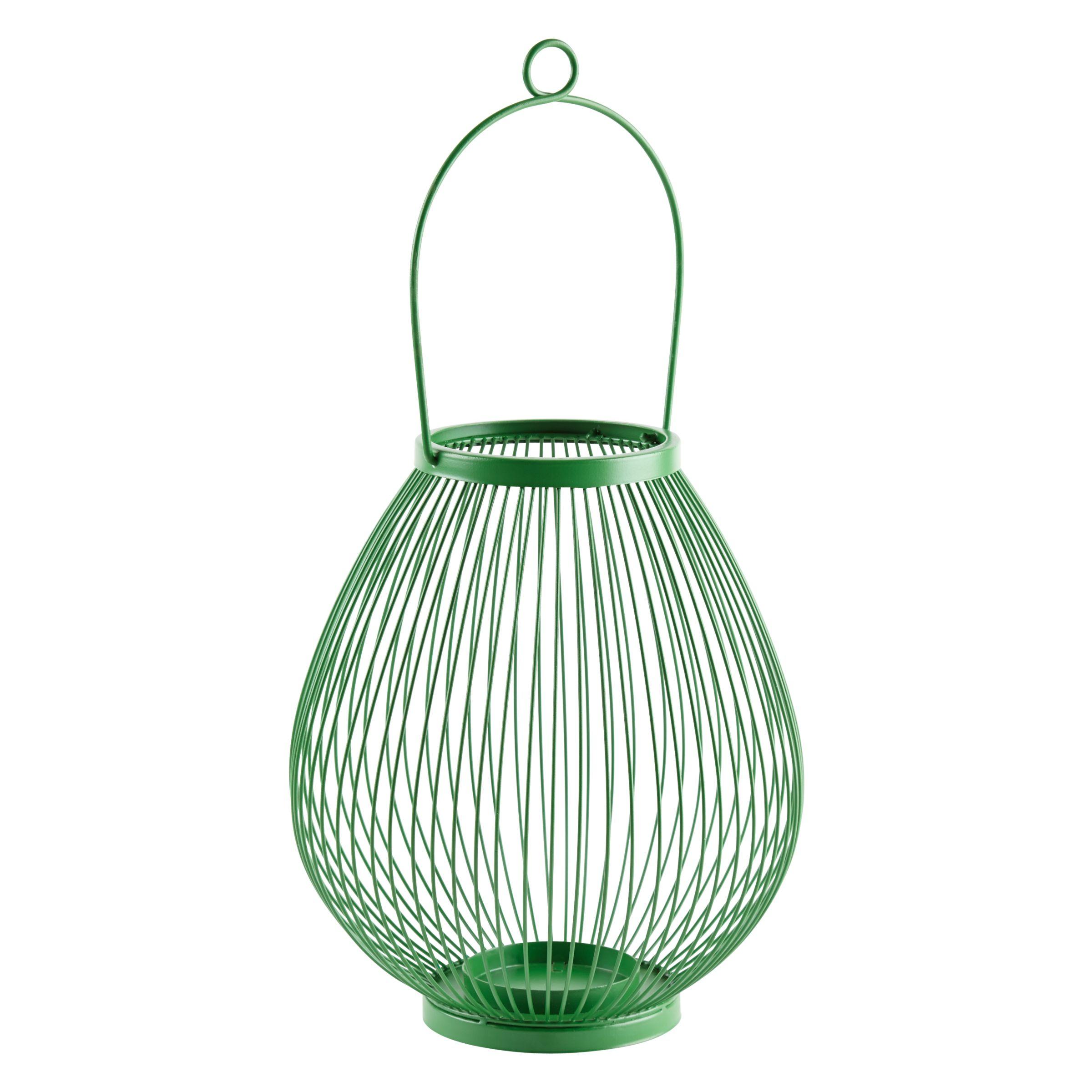 John Lewis Jessica Outdoor Lantern, H28cm, Green