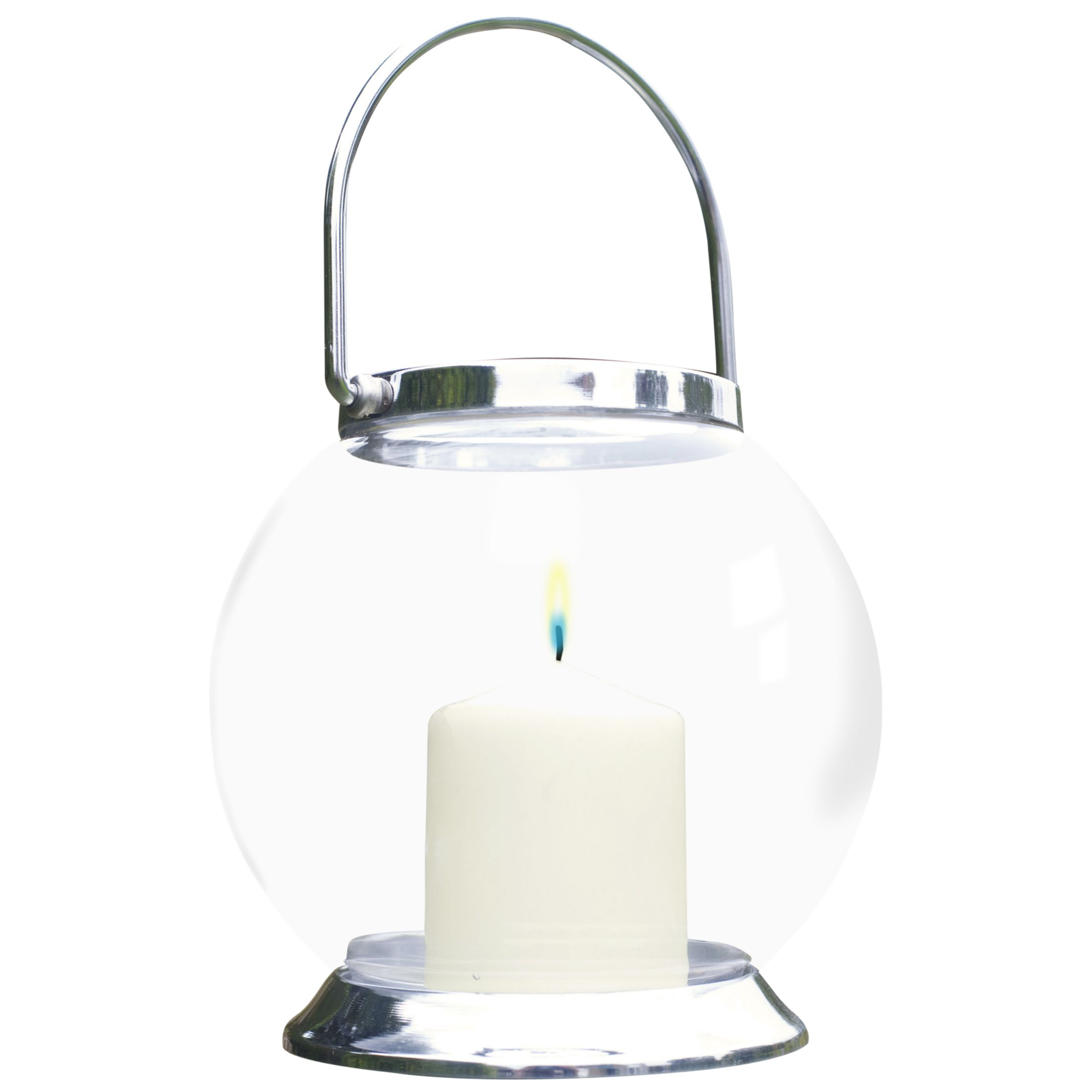 La Hacienda Glass Globe Candle Lantern, Medium