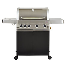 Buy John Lewis JL4SB 4 Burner Roaster Barbecue Online at johnlewis.com