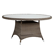 Buy John Lewis Reims Round 6 Seater Outdoor Dining Table Online at johnlewis.com