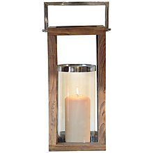 Buy Foras Teak Lantern, H18cm Online at johnlewis.com