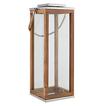 Buy Foras Teak Lantern, H22cm Online at johnlewis.com