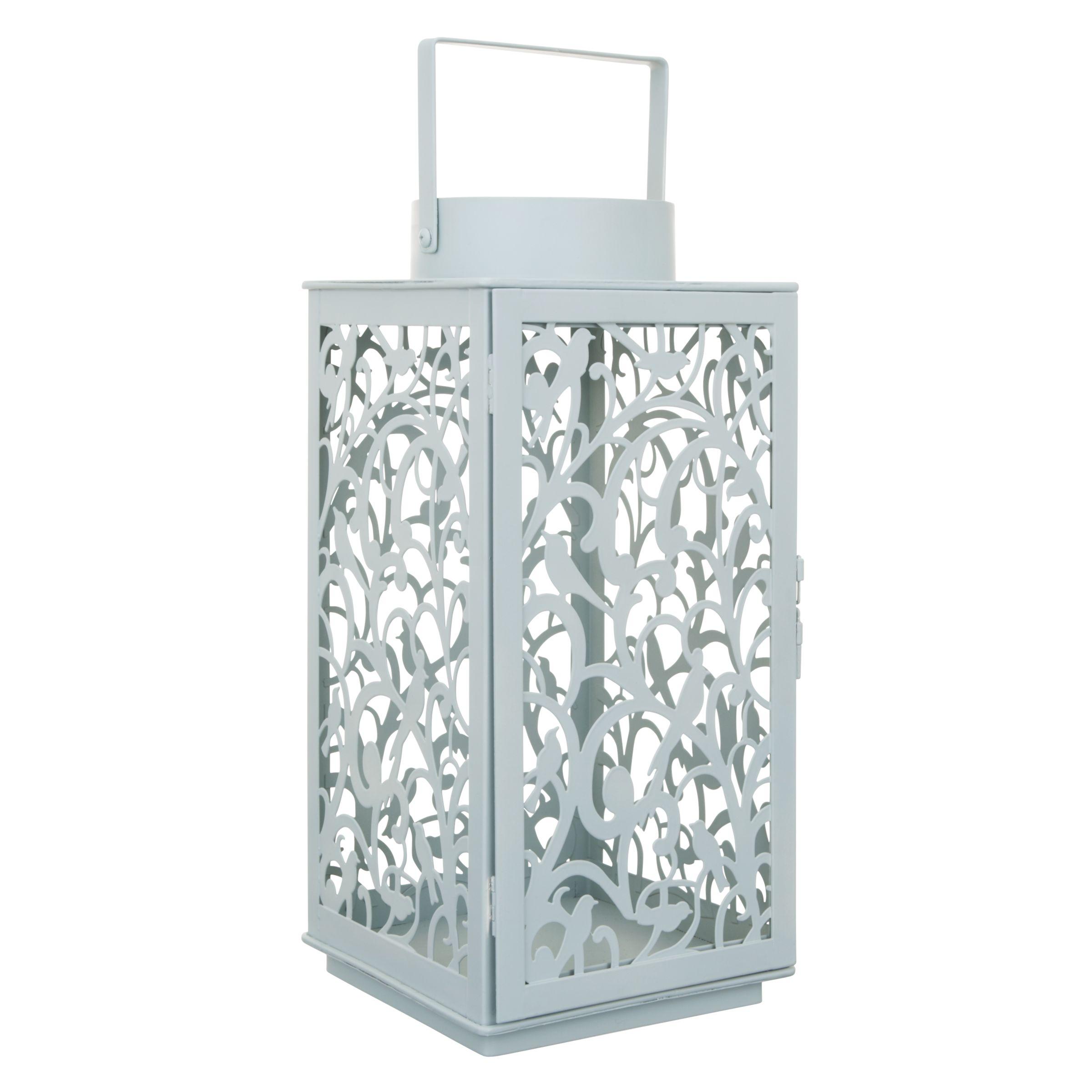 John Lewis Fleur Outdoor Lantern, H37 x W17 x D17cm