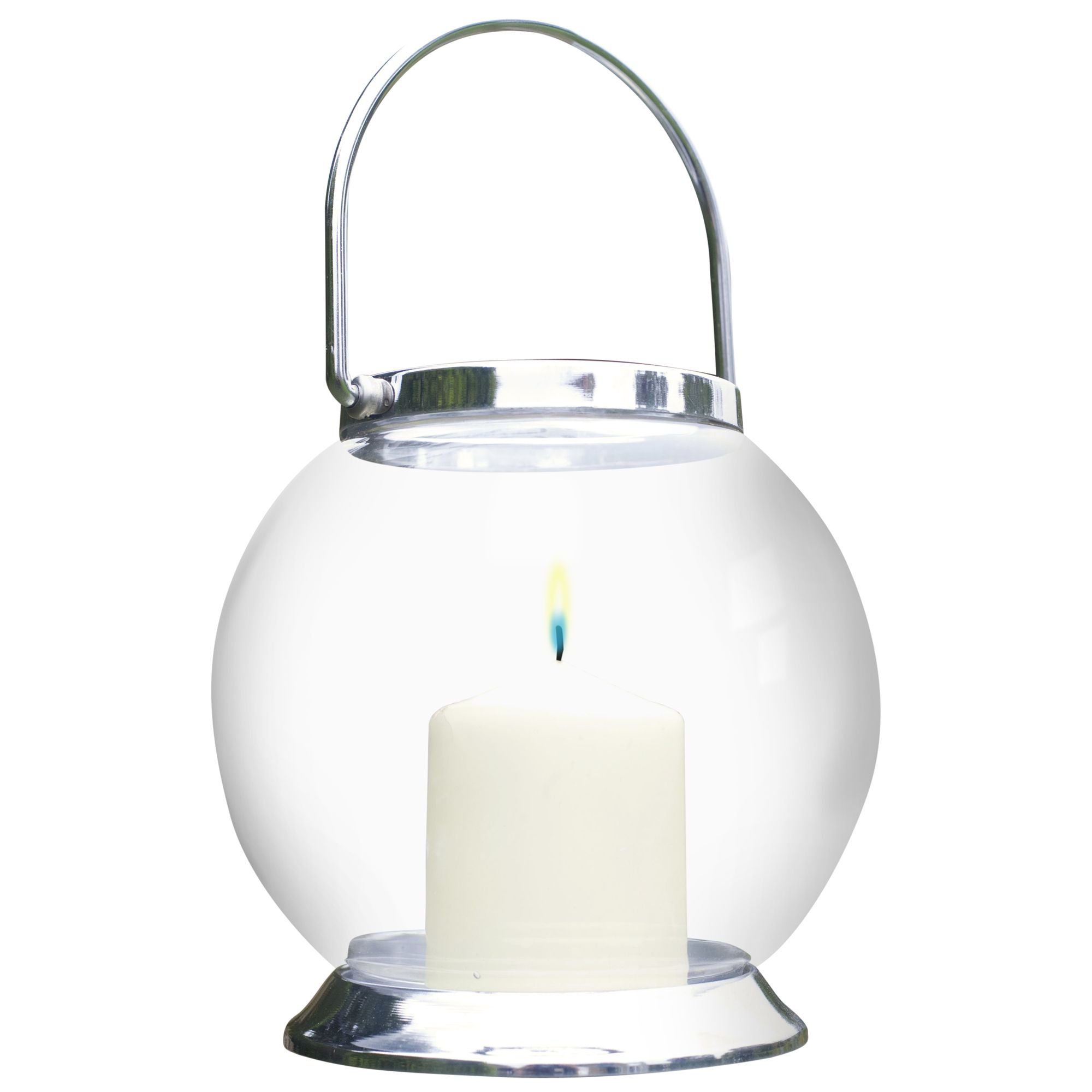 La Hacienda Glass Globe Candle Lantern, Small