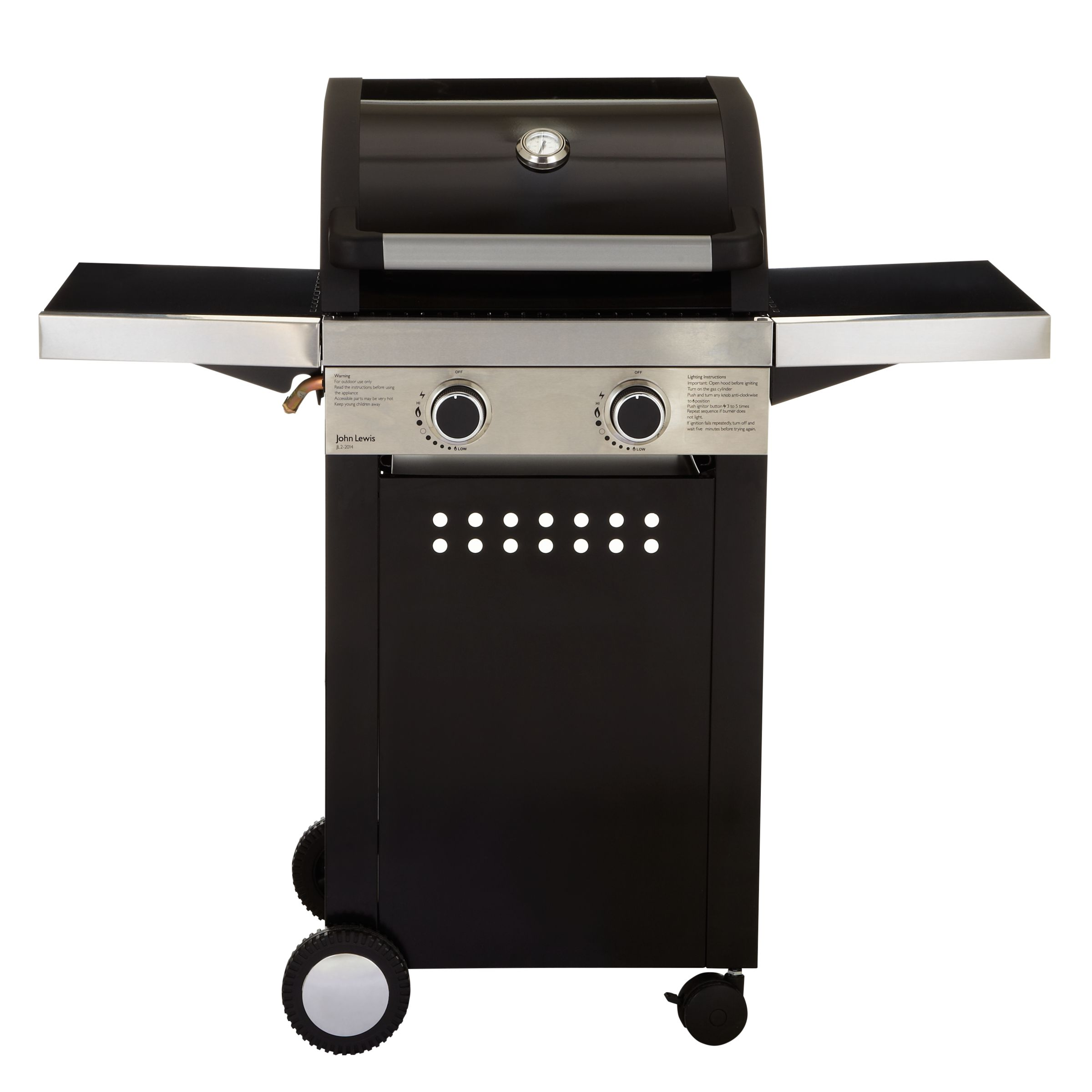 John Lewis Hooded 2 Burner Gas Barbecue