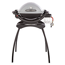 Buy Weber Q1200 Gas Barbecue with Stand, Black Online at johnlewis.com