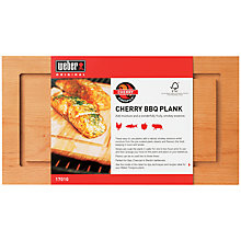 Buy Weber Firespice Cherry Wood Barbecue Plank Online at johnlewis.com