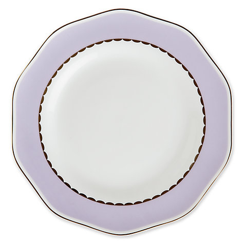 Buy John Lewis Country Parlour Tea Plate, Purple Online at johnlewis.com