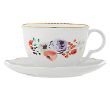 Buy John Lewis Country Parlour Tea Cup And Saucer, Multi Online at johnlewis.com