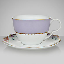 Buy John Lewis Country Parlour Tea Cup And Saucer Set, Purple Online at johnlewis.com