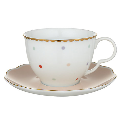 Buy John Lewis Country Parlour Polka Dot Tea Cup And Saucer Set, Multi Online at johnlewis.com