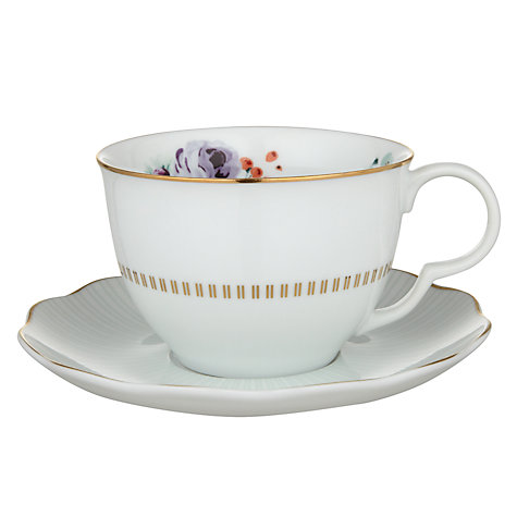 Buy John Lewis Country Parlour Floral Tea Cup And Saucer, Multi Online at johnlewis.com