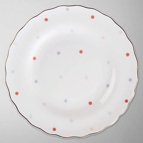 Buy John Lewis Country Parlour Polka Dot Tea Plate, Multi Online at johnlewis.com