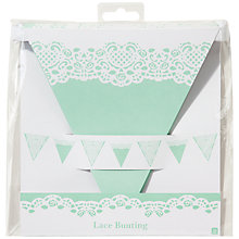 Buy Talking Tables Mint Lace Doiley Bunting, L3m Online at johnlewis.com