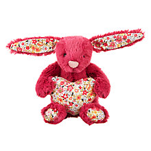 Buy Jellycat Blossom Heart Bunny Decoration, Rose Online at johnlewis.com