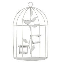 Buy John Lewis Bird Cage Tealight Holder, White Online at johnlewis.com