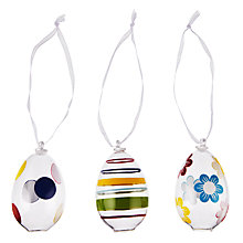 Buy John Lewis Mini Glass Egg Decoration, Assorted Colours Online at johnlewis.com