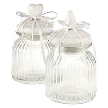 Buy John Lewis Glass Storage Jar, Small, Assorted Online at johnlewis.com