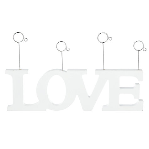 Buy John Lewis Love Photo Clip, White Online at johnlewis.com