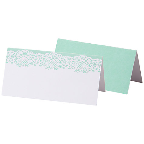 Buy Talking Tables Mint Lace Doiley Placecards, Pack of 10 Online at johnlewis.com