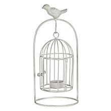 Buy Big Decs Bird Hanging Cage Tealight Holder, White Online at johnlewis.com