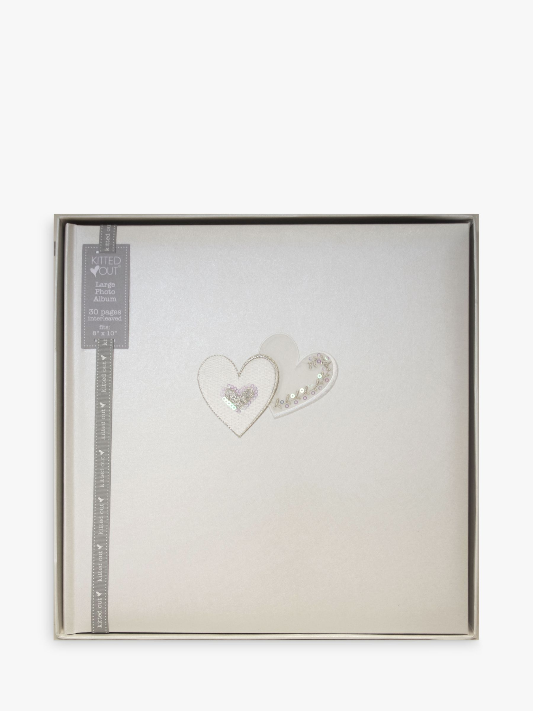 John Lewis Wedding Gift List Review : Buy Hearts Traditional Photo Album, Large Online at johnlewis.com