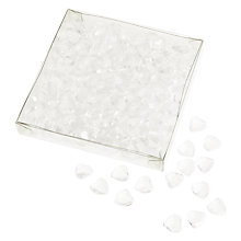 Buy John Lewis Heart Table Scatters, Clear Online at johnlewis.com