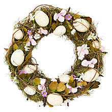 Buy John Lewis Easter Wreath, Dia.30cm Online at johnlewis.com