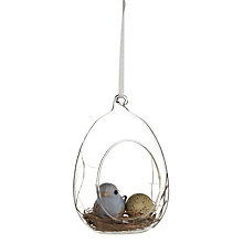 Buy John Lewis Glass Easter Egg with Bird Decoration Online at johnlewis.com