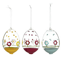 Buy John Lewis Glass Easter Egg Flower Decoration, Assorted Online at johnlewis.com