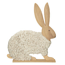 Buy John Lewis Woollen Rabbit Stand, White Online at johnlewis.com