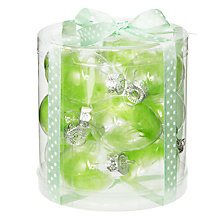 Buy John Lewis Feather Glass Egg Decorations, Pack of 12 Online at johnlewis.com