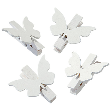 Buy Talking Tables Something in the Air Butterfly Pegs, Pack of 20 Online at johnlewis.com