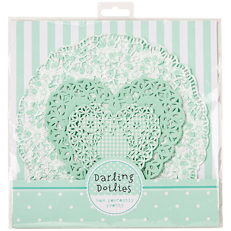 Buy Talking Tables Mint Lace Doiley Set, Pack of 30 Online at johnlewis.com