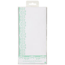 Buy Talking Tables Mint Lace Doiley Invitations, Pack of 10 Online at johnlewis.com