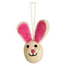 Buy Felt So Good Bunny Head Hanging Decoration Online at johnlewis.com
