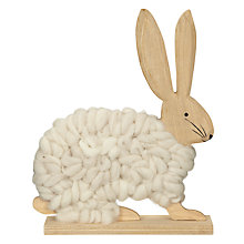 Buy John Lewis Woollen Standing Rabbit, Medium Online at johnlewis.com